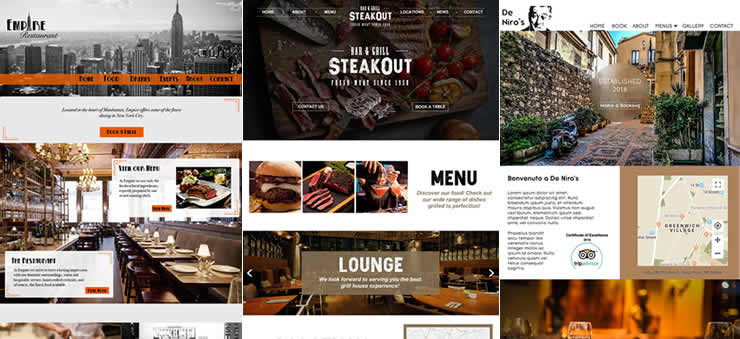 Homepage Concept Interface Designs for Restaurants