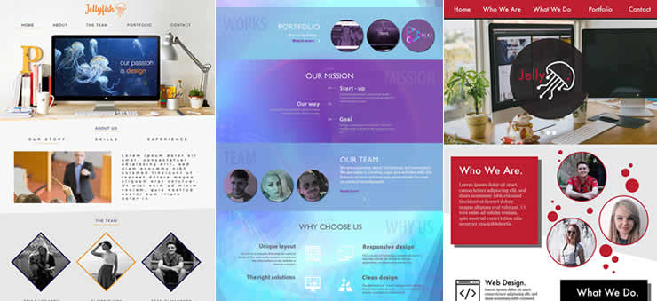 Homepage Concept Interface Designs for Website Design & Development Business