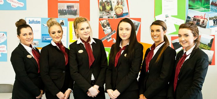 Travel & Tourism students will gain skills in reception & passenger service, cabin crew training & cover airline studies.