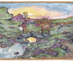 Illustration graduate works on 'Celtic Tales' publication