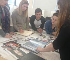 Fibre Art Graduate meets Students