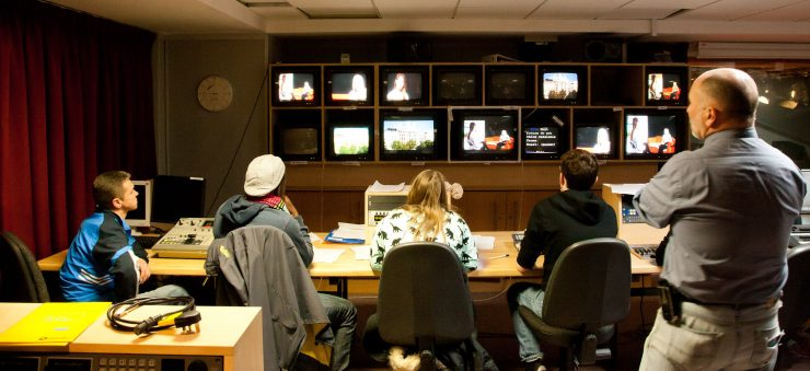 This television and digital film course allows students to build a visual portfolio in the areas of TV Studio Production, Film Production and Photography