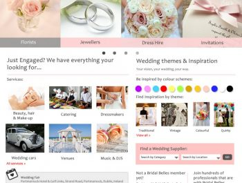 Wedding Portal Interface Design by Martina McGuiness 2015