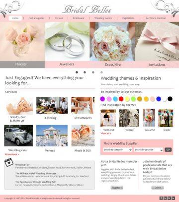 Wedding Portal Interface Design by Martina McGuiness 2015