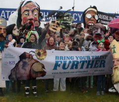Art, Design & Three Dimensional Studies students won first prize at St. Patrick's Day Parade, Ratoath with a showing of 'Big Heads' in the walking group.