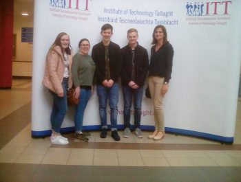 May 2017, Some second year Business students visit IT Tallaght. Pictured here with Business Management lecturer, Ethna O'Connor