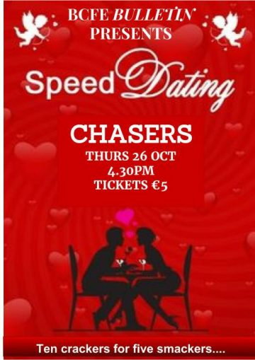 Speed Dating Ages 35 to 45 LADIES PLACES SOLD OUT