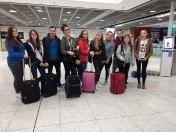 Our students at Dublin Airport.