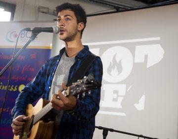Performing at 'Talking'