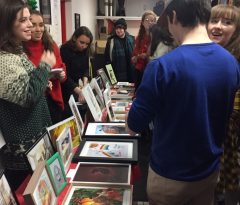 The college was buzzing with excitement during the BCFE Art sale
